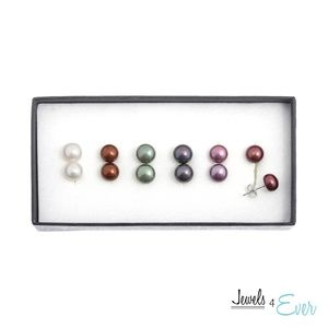 Sterling Silver Coloured Freshwater Pearl Earrings
